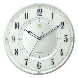 ■リズム時計 電波掛時計【RHG-M120】連続秒針 白パール色 8MY558HG03【楽ギフ_包装選択】