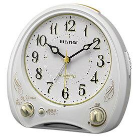 ■RHYTHM[リズム時計]【アリアカンタービレN】目覚まし時計メロディアラーム 白 8RM400SR03 [代引不可][後払い不可]【楽ギフ_包装選択】.