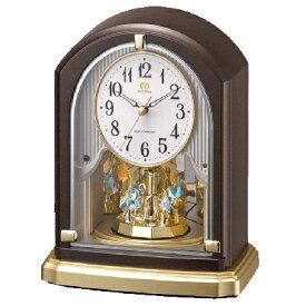 リズム時計■電波時計 置時計【RHG-S75】クリスタル付き 回転飾り 8RY414HG06 [代引不可]【楽ギフ_包装選択】