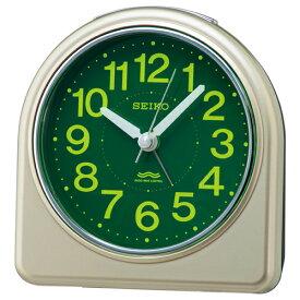 SEIKO セイコー 電波目覚まし時計【集光樹脂文字板】薄金色パール色 KR332G [代引不可][後払い不可]【楽ギフ_包装選択】.