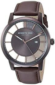 【中古】【輸入品・未使用】Kenneth Cole New York メンズ '透明' クォーツ ステンレススチールとレザー カジュアルウォッチ (KC50560007/05/03/02/01) ブラウン