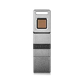【中古】【輸入品・未使用】TOPMORE Phecda II 指紋暗号フラッシュドライブ USB3.0 デュアルストレージ付き データセキュリティストレージ保護メモリスティック (16GB シル