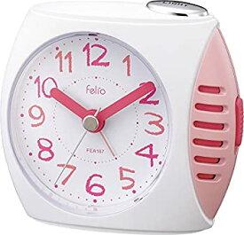 【中古】【輸入品日本向け】Felio 置き時計・掛け時計 ピンク (約)高さ8.5×幅9.4×奥行き4.0cm
