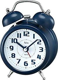 【中古】【輸入品日本向け】Felio(フェリオ) 目覚まし時計 非電波 アナログ タルト ツインベル ネイビーブルー FEA170NB-Z