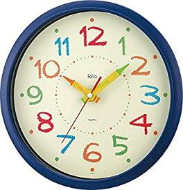【中古】【輸入品日本向け】Felio(フェリオ) 掛け時計 非電波 アナログ ペイントタイム 直径29.8cm ネイビーブルー FEW184NB-Z