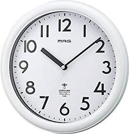 【中古】【輸入品日本向け】MAG(マグ) 掛け時計 電波 アナログ カプタイン 直径24.9cm 連続秒針 マットホワイト W-650WH-Z