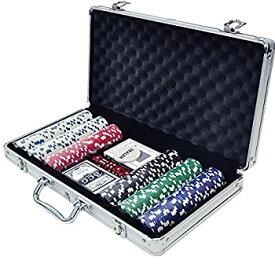 【中古】【輸入品日本向け】iimono117 ポーカーセット チップ300枚 アルミケース入り 本格派 カジノゲーム ポーカー テーブルゲーム 大人用 ゲーム ホームパーティ お家時間