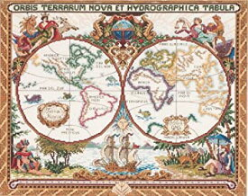 【中古】【輸入品・未使用】Janlynn クロスステッチキット Olde World Map 【並行輸入品】            Janlynn Cross Stitch Kit 15-Inch by 18-Inch Olde W