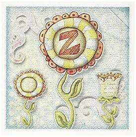 【中古】【輸入品・未使用】Dooni Designsモノグラム初期Designs???キュートQuirky花モノグラム手紙Z???グリーティングカード Set of 12 Greeting Cards