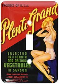 【中古】【輸入品・未使用】3drose LSP 171147?_ 1?Plenti Grand選択野菜in Season with Pretty Pin Up Girl Single切り替えスイッチ