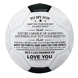 【中古】【輸入品・未使用】Kenon 刻印入り サッカーボール/フットボール おもちゃ 息子に - ユースと大人用サッカーボール ポンプ付き - 息子の誕生日や卒業に最適
