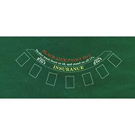 【中古】【輸入品・未使用】Amscan Casino Felt Game Blackjack Table Covers
