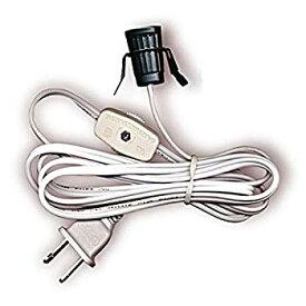 【中古】【輸入品・未使用】Lamp Cord Has Clip-in Candelabra Socket Rotary Switch And Molded End Plug. 6 Ft. White by National Artcraft