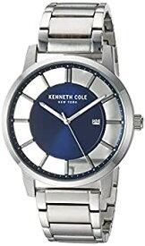 【中古】【輸入品・未使用未開封】Kenneth Cole New York KC50560002 カジュアルウォッチ メンズ 透明 クォーツ ステンレススチール シルバートーン