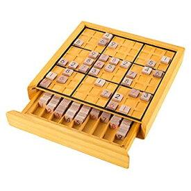 【中古】【輸入品・未使用未開封】Hey! Play!80-EC03 木製数独 コンプリートセット タイル 木製ボード パズルブック ナンバー シンキングゲーム 大人と子供用