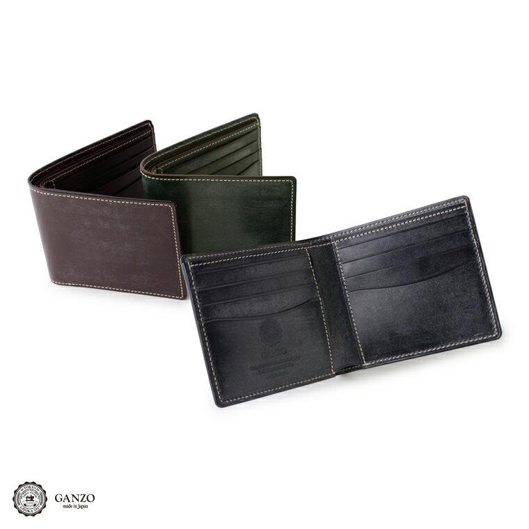 メンズ GANZO ガンゾ ブライドルカジュアル Bridle Casual 二つ折り財布 メンズ