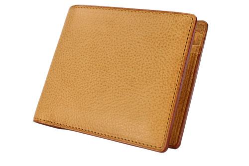 メンズ GANZO ガンゾ Minerva Natural ミネルバナチュラル 2つ折り財布