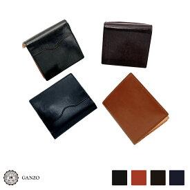 【GANZO】 ガンゾ THIN BRIDLE シンブライドル BOX小銭入れ付コンパクト札入れ ミニ財布