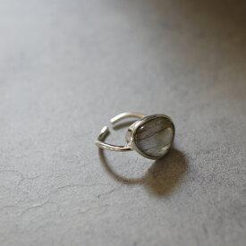 【予約(4週間以内納期)】 R073 リング silver925 ストーン 石 ムーンストーン シンプル フリーサイズ  ギフト プレゼント 女性 レディース 上品 ajiro accessory