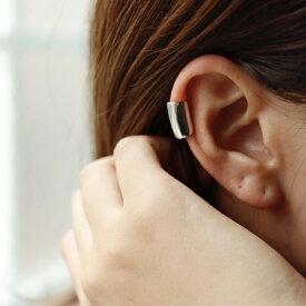 C041 イヤーカフ 高純度シルバー イヤカフ イヤーカフス メンズ メンズライク silver925 シンプル 片耳 シルバー ギフト プレゼント 女性 レディース ユニーク フリーサイズ ajiro