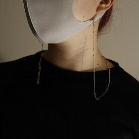 N068 2way マスクチェーン メガネチェーン つぶつぶ シンプル  ゴールド マスク ネックレス マスクストラップ  ajiro