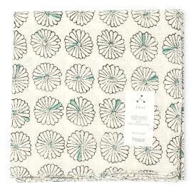 admi(アドゥミ) バンダナ Peace 01 (ブルー) 60×60cm 大判 ハンカチ コットン インド綿 木版プリント プレゼント ギフト レディース おしゃれ かわいい