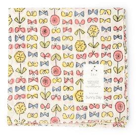 admi(アドゥミ) バンダナ SunnyDay 01 (ピンク/イエロー) 60×60cm 大判 ハンカチ コットン インド綿 木版プリント プレゼント ギフト レディース おしゃれ かわいい