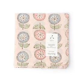 admi(アドゥミ) ハンカチ Morning 02 (ピンク) 45×45cm コットン インド綿 木版プリント プレゼント ギフト レディース おしゃれ かわいい
