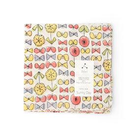 admi(アドゥミ) ハンカチ SunnyDay 01 (ピンク/イエロー) 45×45cm コットン インド綿 木版プリント プレゼント ギフト レディース おしゃれ かわいい