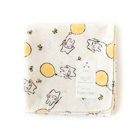 admi(アドゥミ) ハンカチ Fusen Usagi 45×45cm コットン インド綿 木版プリント プレゼント ギフト レディース おしゃれ かわいい