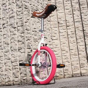 ピンクとホワイトが可愛い♪[Kettler]子供用16インチ一輪車