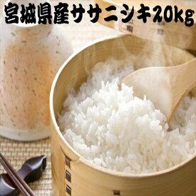 【新米】【送料無料】 米 20kg 白米 玄米 ササニシキ 一等米 宮城県産 令和2年産 /白米5kg×4袋/玄米10kg×2袋/