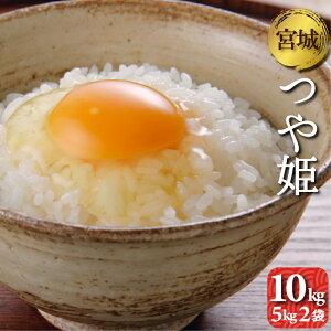 宮城県産 つや姫 10kg(5kg2袋) 令和元年産 送料無料 お米 精白米 (離島・沖縄発送不可)