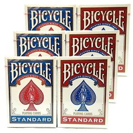BICYCLE バイスクル トランプ 6個 スタンダードフェイス STANDARD FACES (レッド3 ブルー3) PLAYING CARDS /カード【手品】【マジック】【マジック用品】【手品用品】