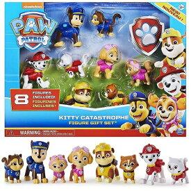 パウパトロール キティ カタストロフ ギフトセット フィギュア 8ピースセット /マーシャル/チェイス/スカイ/ラブル/おもちゃ/プレゼント