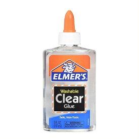 スライム作りに♪ Elmer's(エルマーズ) スクールグルー 液体のり クリア, 147 mL(5オンス)透明/スライム/スライミー