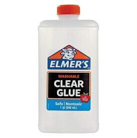 スライム作りに♪ Elmer's (エルマーズ) スクールグルー 液体のり クリア, 946 mL(32オンス)透明/スライム/スライミー