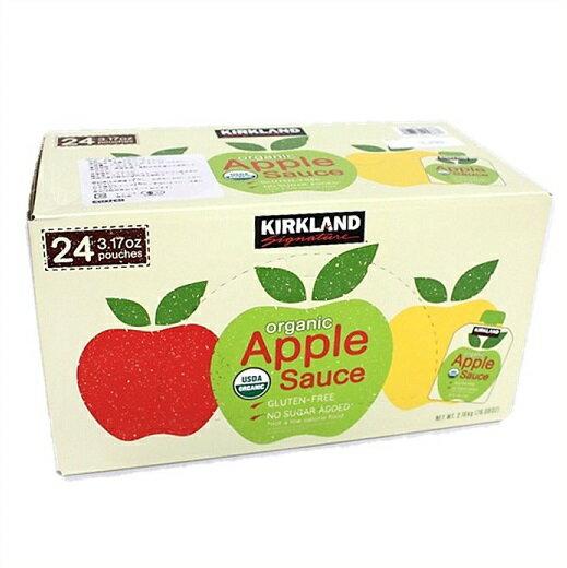 【カークランド】オーガニック アップルソース パウチ 90g×24個入り リンゴソース/りんごソース/離乳食/介護食/ジャム/ピューレ/有機/KIRKAND