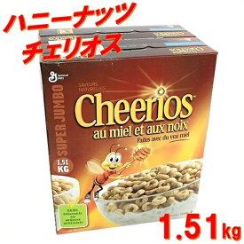 【ジェネラルミルズ】ハニーナッツ チェリオス 1.51kg(725g×2袋) GeneralMills/シリアル/コストコ/はちみつ