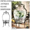 【FIFTH AVENUE】 飲料ディスペンサー 10L 大容量/ガラス/アンティーク/イベント/ドリンクディスペンサー/ビバレッジ…