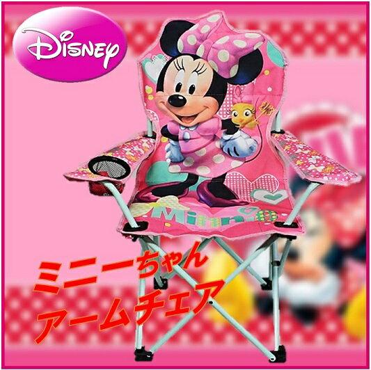 【ディズニー Disney】 ミニーマウス ユース アームチェア キッズ 折りたたみチェア 子供用/折り畳みチェアー/いす/ BBQ/キャンプ/コンパクトチェア/ポータブル/折りたたみ式/ミニーちゃん/ミニー