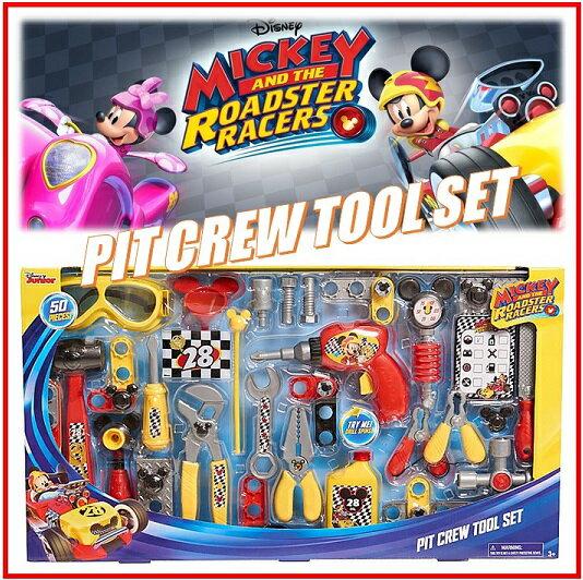 【Disney Junior】ディズニー ミッキー ロードスター レーサー ピットクルーツールセット 50ピース Mickey And The Roadster Racers Pit Crew Tool Setミッキー/工具/おもちゃ/知育玩具/