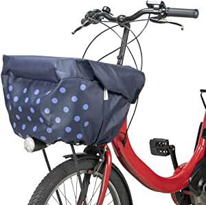パナソニック(Panasonic) フロント用バスケットカバー NSAR147 ネイビー ドットパターン自転車