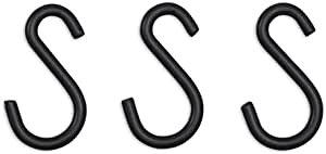 3個セット アイリスオーヤマ ラック メタルラック パーツ カラーメタルラック S字フック ブラック幅2.7 奥行き0.4 高さ4.8 スチールラック おしゃれ CMM-3SF