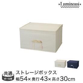 [25mm] [19mm] 収納ボックス フタ付き 引き出し ルミナス パーツ ラック内収納ボックス5443深型 幅54×奥行43×高さ30cm LSB5443H(アイボリー/ネイビー) メタル製ラック アルミラック