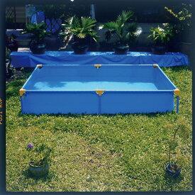 プール本体プール 庭 プール 大型 プール ベランダ 簡易プール 送料無料 ファミリープール 大型プール キッズプール 子供用プール 子ども用プール 家庭用プール ガーデンプール 長方形 水あそび 青 黄色 ブルー イエローF-2043沖縄・離島送料別途