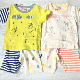 キムラタン mother goose マザーグース 半袖パジャマ シロクマ柄 男女兼用パジャマ 子供用パジャマ 腹巻パジャマ 柔らかいパジャマ 綿100%パジャマ メール便