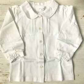 Will Mery ウィルメリー 白ブラウス 長袖Tシャツ フォーマル 衿刺繍 発表会 入学式・卒業式 女の子 メール便