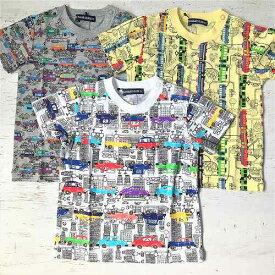LITTLE BEAR CLUB リトルベアークラブ 丸高 レトロな車・電車柄半袖Tシャツ 日本製 綿100% メール便可能