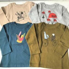 ネブラ Ocean&Ground オーシャンアンドグラウンド PRINT T 長袖Tシャツ 動物柄 子供服 秋物 メール便無料